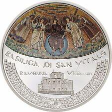 BASILICA SAN VITALE Wonderful Mosaics 1 Oz Silver Coin 5$ Cook Islands 2017