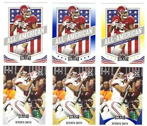 2021 DEVONTA SMITH Rookie Card FOOTBALL LOT EAGLES RED HOT CARDS !!!!