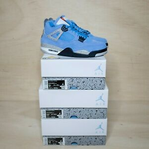 Jordan 4 Retro University Blue Size 16, DS BRAND NEW