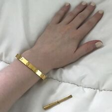 Cartier Love Bracelet Authentic 18k Yellow Gold Size 19 With Screw Driver