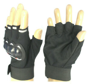 Mens Grip Gloves Weight Lifting Gym Training Fitness Fingerless Cycling Bike