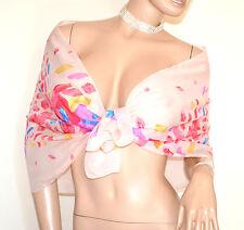 STOLA ROSA CIPRIA foulard donna fantasia velata coprispalle elegante A42