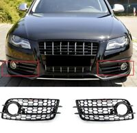 Für Audi A4 B8 8K 07-12 S-line Rs4 Look Nebelscheinwerfer Blende Wabengrill Gril