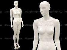 Female Fiberglass Mannequin Glossy White Abstract Fashion Style #Mc-Anna02