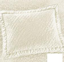 """Martha Stewart Flowering Trellis Quilted Standard Sham Ivory 20"""" x 28"""" Bedding"""