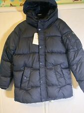 Boys Zara Navy Puffer Jacket. New. 13-14 Years