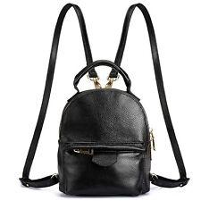Genuine Leather Women Daypack Travel Vintage Backpack Shoulder Bag Mini packsack