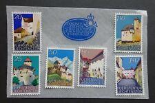 """1986 Liechtenstein """"Vaduz Castle"""" Set SG886 - 891 MNH"""