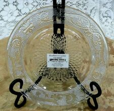 Elegant Set of 4 Studio Silversmiths  Designed Glass Plates - New with Tags