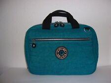 Kipling Teal Turquoise Blue Nylon Hanging Toiletry Bag / Travel Makeup Case