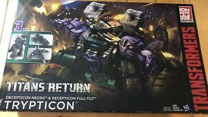 2017 Hasbro Transformers Titans Return Decepticon Necro Trypticon open box