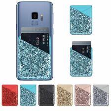 Phone Glitter Back Wallet Case Mobile Credit Card ID Card Insert Holder Pocket