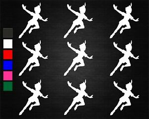 9 x PETER PAN FLYING WINE GLASS JAR DECAL STICKERS PARTY/ART/CRAFTS/WINDOW  #2