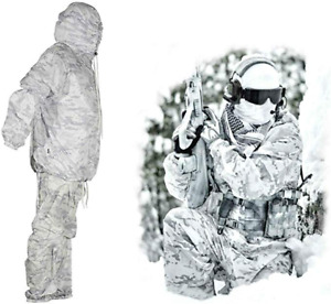 Winter Hunting Camouflage Suits Multicam Alpine White Militaria Airsoft Snow New