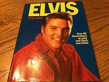 Elvis Presley Hardback Book Elvis by Peter Jones 1976 Original Pre Death
