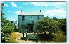 Nantucket Massachusetts Old Jail 1970s Pillory Punishment Vintage Postcard B18