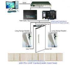 FULL Kits For Car Entry Control Long Range reader/C3-100 Control Panel/UHF Cards