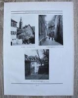 Blatt 1929 Bamberg Hölle Roppeltsgäßchen Untere Karolinenstraße  Ofr 22x30cm