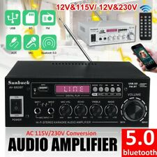 1200W Bluetooth HiFi Stereo Verstärker Digital Audio Power Amplifier FM 12V