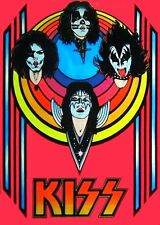 KISS - Destroyer '70's Blacklight Poster Heavy Metal Sticker OR Magnet