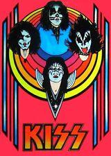 KISS - '70's Blacklight Retro Poster Heavy Metal Sticker, Magnet