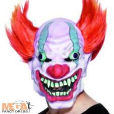 Evil Clown Mask Adults Halloween Fancy Dress Creepy Horrror Costume Accessory