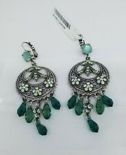 Mariana Fern Swarovski crystal Silverstone earrings ornate green Dangles 2143