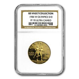1984-W Gold $10 Commem Olympic PF-70 NGC - SKU #68820