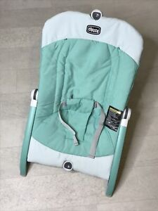 Chicco Pocket Relax Infant Rocker Seat Teal Green Bouncy Travel Folding