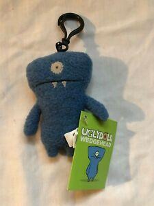 Uglydoll Wedgehead Wedge head plush keychain with tag original rare retired