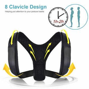 Posture Corrector Men Women Kids Support Back Shoulder Brace Belt Adjustable