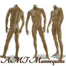 "5'8"" Male headless mannequin, muscular manikin- headless skin tone David X-X"