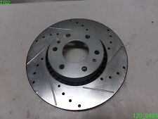 """POWER STOP DRILLED AND SLOTTED BRAKE ROTOR AR8650XR 10916L 6 LUG ON 5"""" CENTER"""