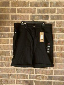 Levi's Women's Shaping Bermuda Shorts Black Denim NWT size 20W classic simple