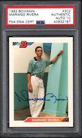 1992 Bowman #302 MARIANO RIVERA RC HOF New York Yankees PSA/DNA AUTH.10