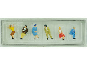 6 personnages assis - HO 1/87 - PREISER 10021