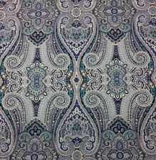 "WAVERLY PAISLEY PIZZAZZ DELFT BLUE MULTIUSE SATEEN FABRIC BY THE YARD 54""W"