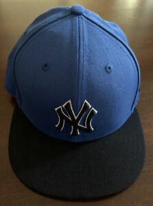 59 Fifty New Era New York Yankees Fitted Blue Hat - Size 7 - MLB Cap