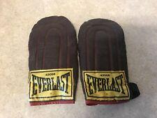 Vintage EverLast 43086 Speed Training Boxing Gloves Dark Leather