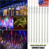 30/50CM LED Lights Meteor Shower Rain Tube Snowfall Tree Christmas Outdoor Decor
