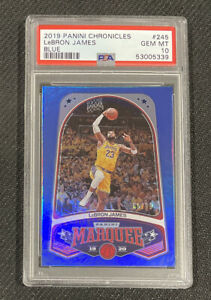 2019 Panini Chronicles Lebron James #245 PSA 10 Marquee Blue Parallel #d 88/99