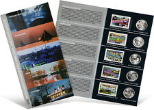 USPS State Quarters and Stamps Portfolio (MA, MD, SC, NH, VA)