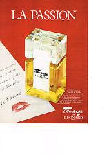 PUBLICITE ADVERTISING  1982   LEONARD   parfum TAMAGO   LA PASSION