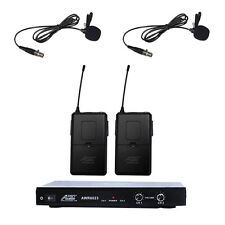6023VM VHF 2 Channel Lapel Wireless Microphone with 2 lavalier