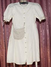 TRACHTEN Kleid CARHO ☺ DIRNDL ☺ Gr. 122 ☺ *TOP*  Leinen+ Baumwolle ☺ NATUR ☺