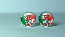 Moto GP's Legend Marco Simoncelli no 58 Glass domed cufflinks, Honda rider