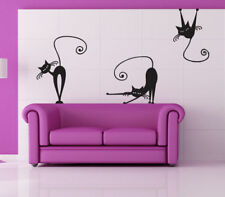 00223 Wall Stickers Adesivi Murali Gatti 50x70 cm
