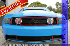 GTG 2010 - 2012 Ford Mustang GT 4PC Gloss Black Overlay Combo Billet Grille Kit