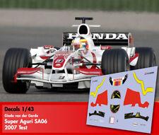 Decals 1/43 - F1 - Giedo vd Garde - Super Aguri SA06 - Test 2007