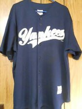 New York Yankees #2 Derek Jeter Navy Blue Jersey MLB Genuine Merch Sz XL B36